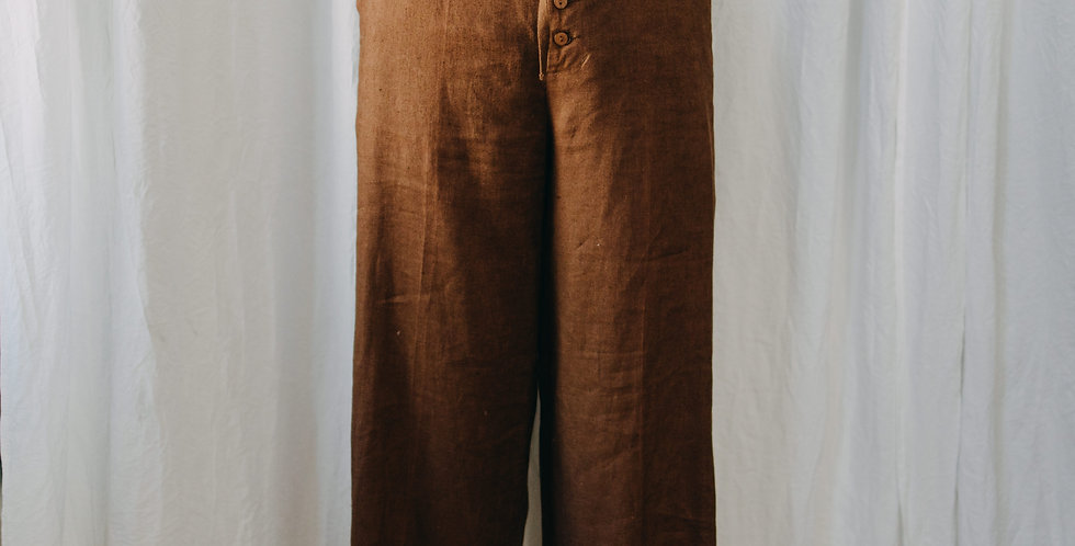 Brown Linen Pant
