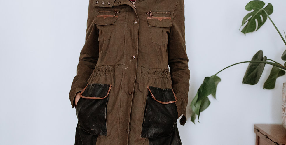 Cargo Jacket with Leather Details