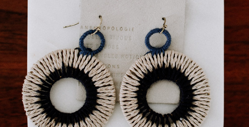 Woven Dangle Earring