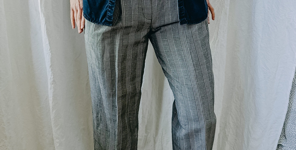 Pleated Gingham Pant