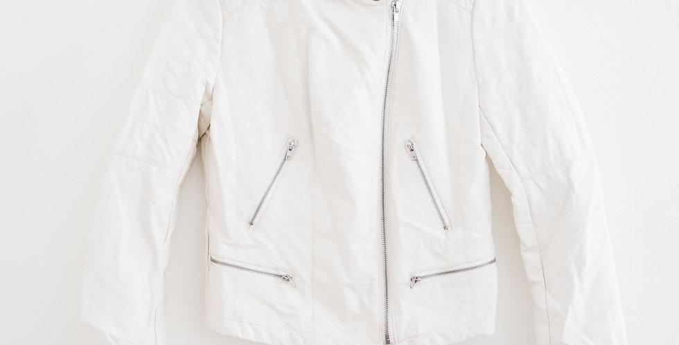White Vegan Leather Jacket