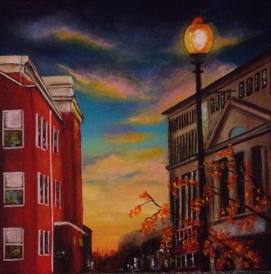 Fall Sunset on Market