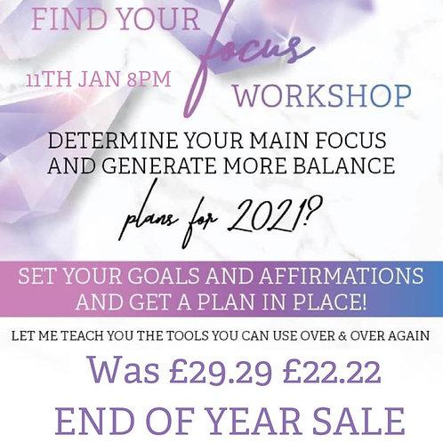 Find your focus workshop