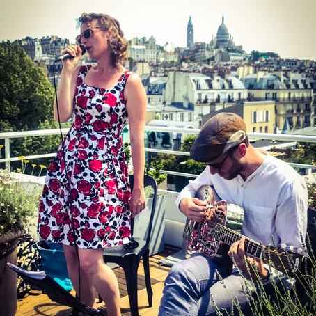 Mathilde au Rooftop Citadines Montmartre