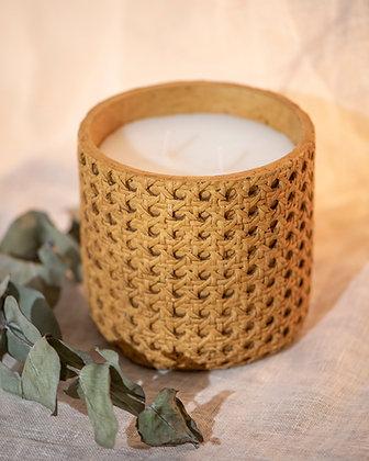 Vela Cerâmica Palha