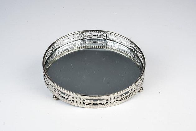 Bandeja Prata com Espelho