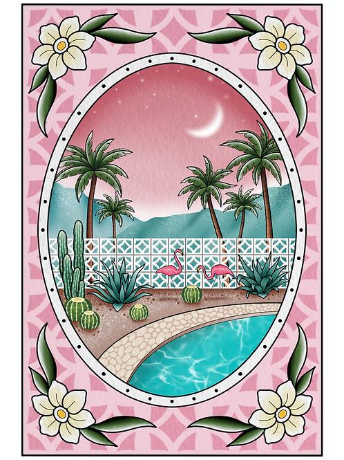 Palm Springs Garden Print