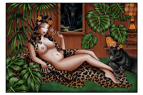 Self Isolation in the Jungle Room Print