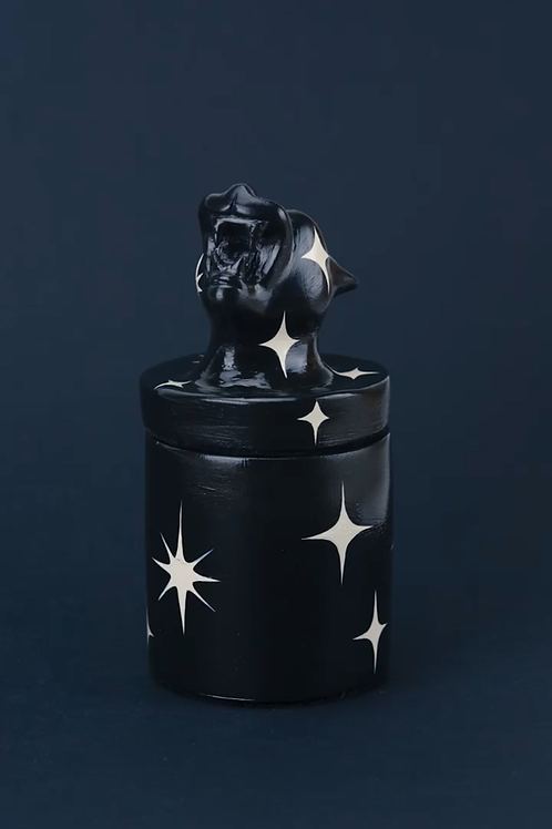 Space Panther Candle Jar