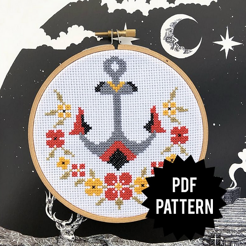 Traditional Anchor Cross Stitch PDF Pattern