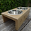 Thumbnail: Personalised Raised Double Bowl Dog Feeder/Water Bowl