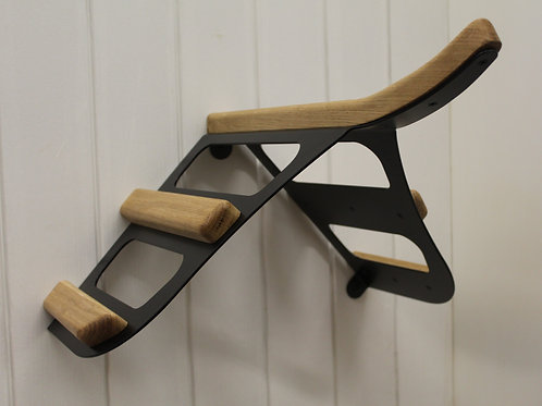 Contour wall mounted saddle rack