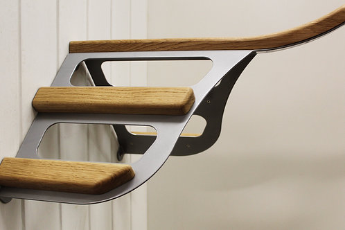 Contour wall mounted saddle rack - Aluminium silver
