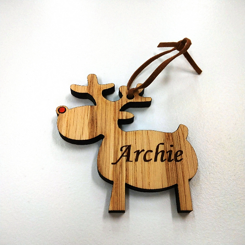Personalised Rudolph & heart reindeer