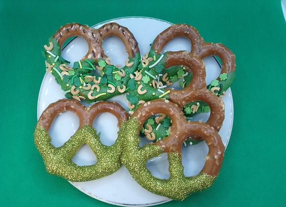 St Patrick's Day Pretzels