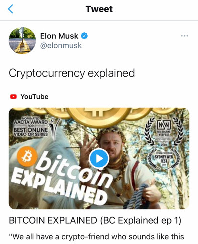 ELON MUSK SHARES THE LOVE WITH TROY LARKIN IN BITCOIN SKETCH BY AUSTRALIAN COMEDY GROUP CAMERALLA