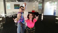 QLD hosts - Dan and Ellen