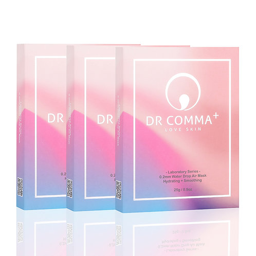 Dr Comma+ Laboratory Series - 0.2mm Water Drop Air Mask (3 boxes)