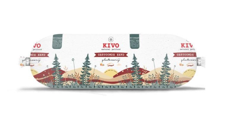 Kivo | gestoomde eend glutenvrij 600g