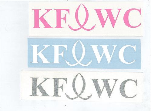"""1"""" X 5"""" KFWC Vinyl Decals"""