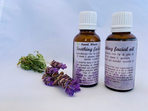 Soothing facial oils