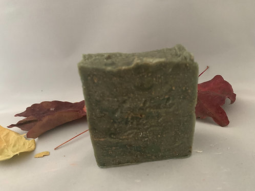 Green tea with oat scrub soap