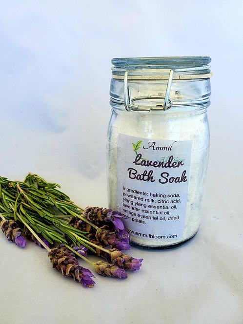 Premium Lavender Scented Bath Salt - 8 oz.