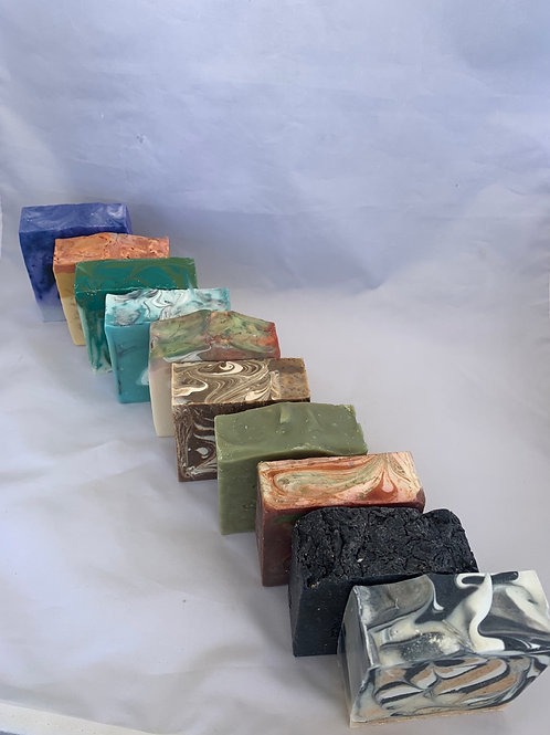 Handmade Bar Soaps Set of 10 - Scented with Premium Essential Oils
