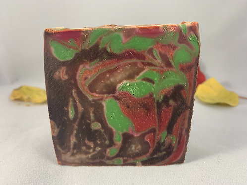 Chocolate rose soap