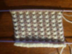 point de tricot pied-de-poule
