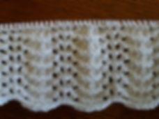 point de vagues tricot