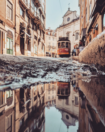 I Travel To Capture The Parallel Worlds Of Puddles With My Smartphone.
