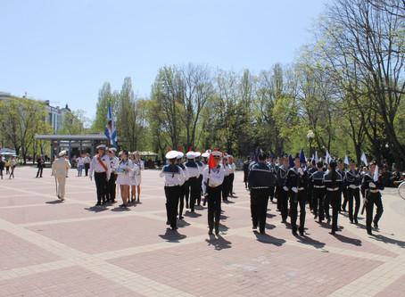 Областной парад юнармейских отрядов, кадетских классов и военно-патриотических клубов