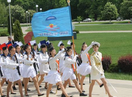 Oбластной парад кадетских классов в ознаменование 73-й годовщины Великой Победы и 75-летия Курской б
