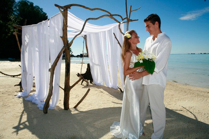 RUSTIQUE STYLE BEACH WEDDING MAURITIUS