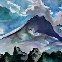A view of Mount Kazbek