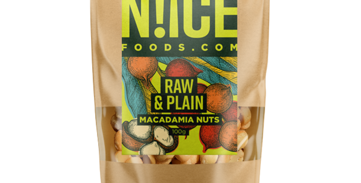 Raw & Plain Macadamia Nuts - 100g