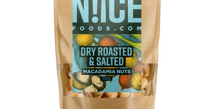 Dry Roasted & Salted Macadamia Nuts - 100g