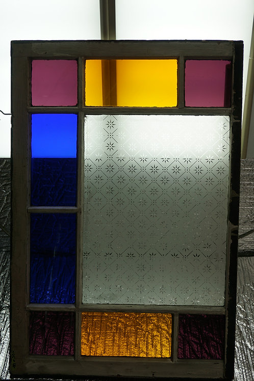 Victorian Stained Glass Window - Queen Anne Style