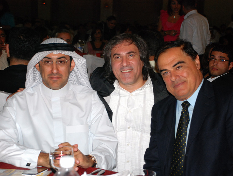 Kuwait: Louai Alasfahani (center) with the Bulgarian Ambassador to Kuwait HE Ilko Shevatchev (right) and Sheikh Dawood Salman Dawood Al Subah (left) during International Advertising Association (IAA) Event.