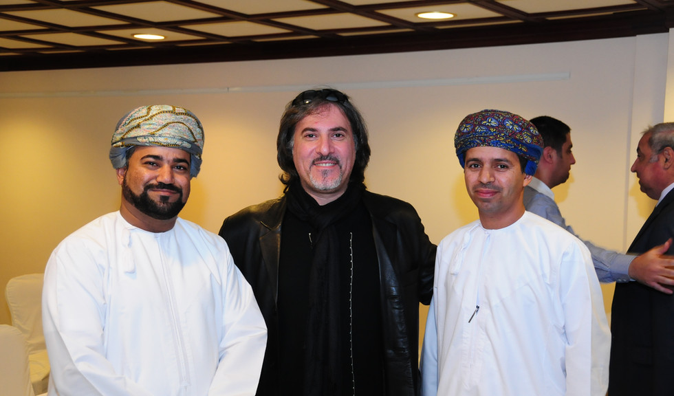 Louai Alasfahani with Oman delegates from Bank Muscat