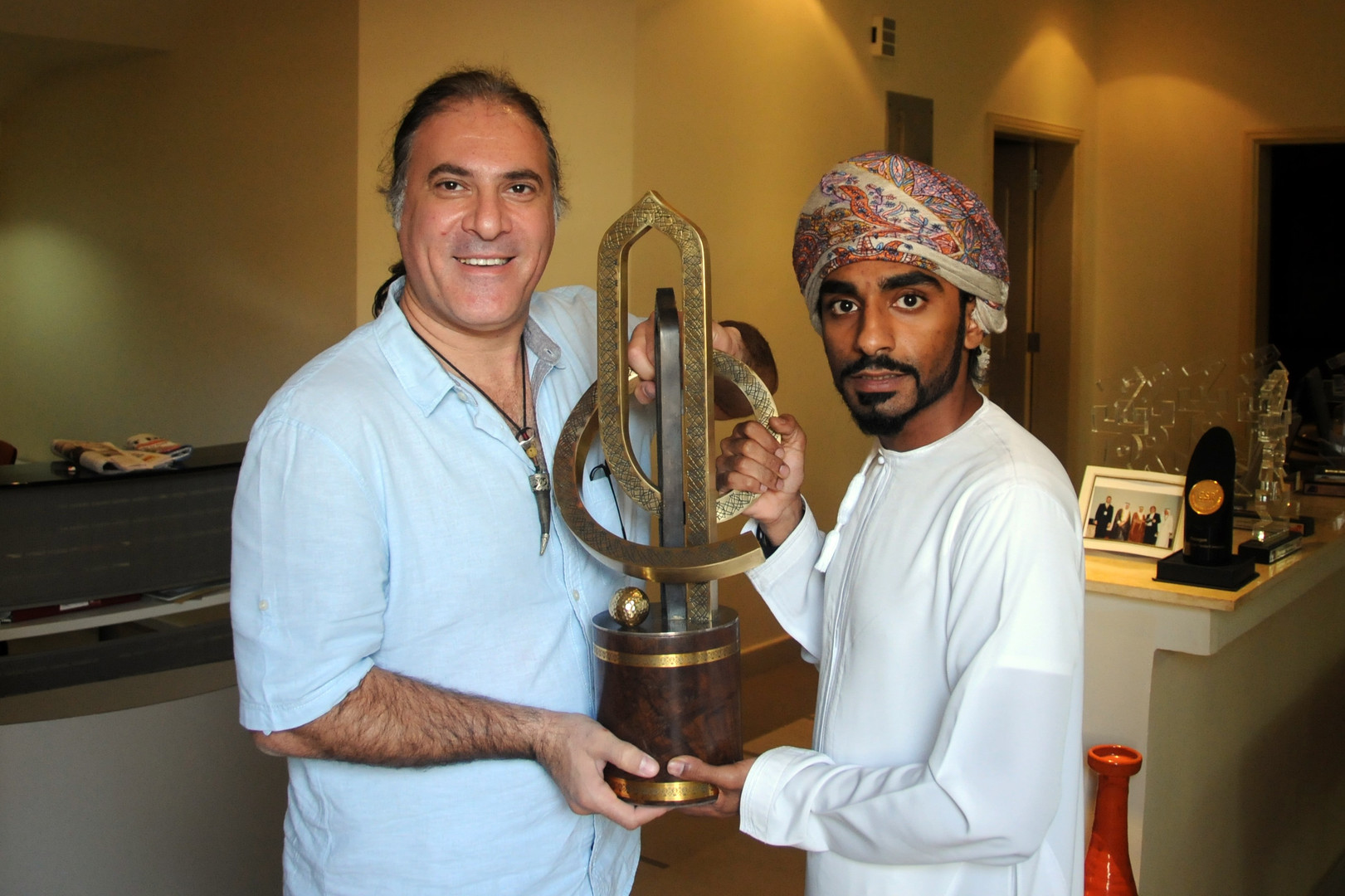 Louai with Omani photographer Mr. Faisal Al Balushi