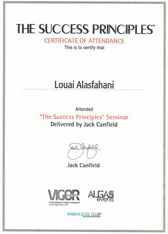 Attendance Certificate-The Success Princ