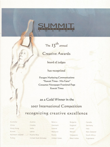 13th Summit Awards_Kuwait Times-Mix Fact