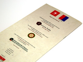 Italian Embassy Kuwait collateral designed by Paragon International