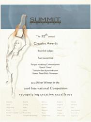 12th Summit Awards_Kuwait Times_Silver.j