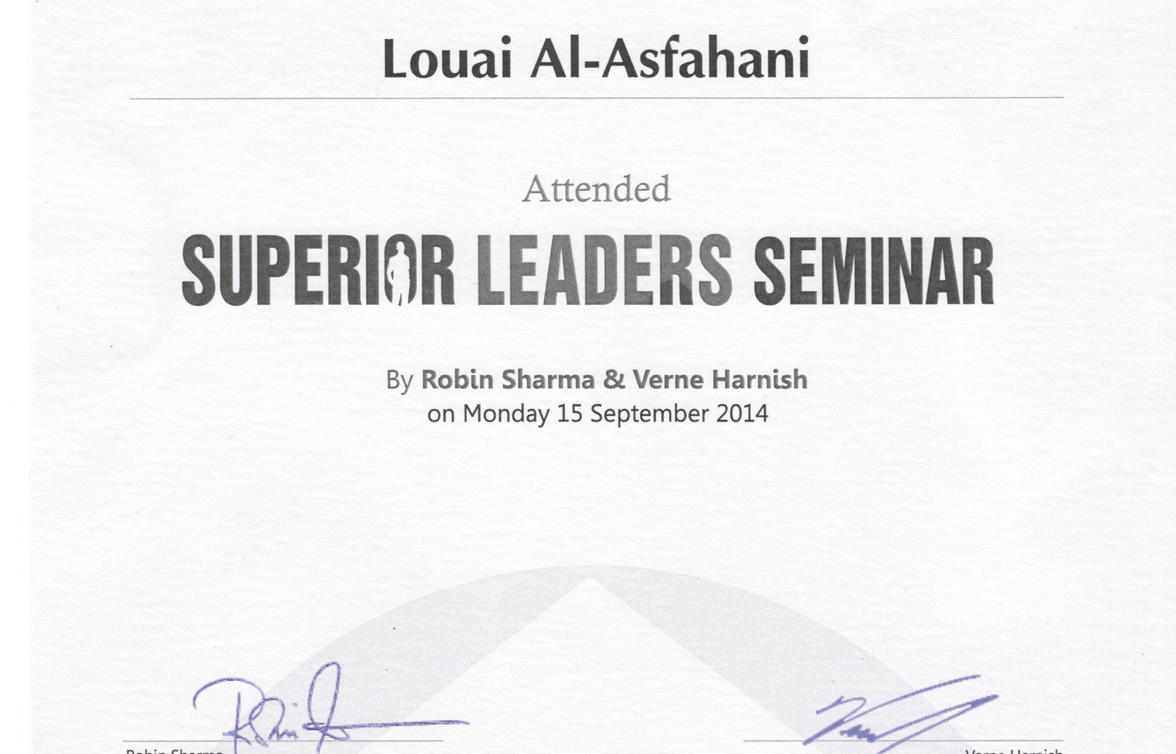 Superior Leaders Seminar_Certificate of