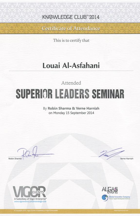 Superior Leaders Seminar_Certificate of