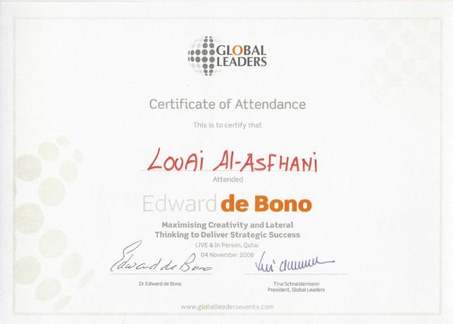 Attendance Certificate-Edward de Bono.jp