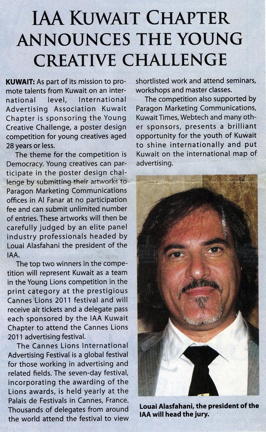 Kuwait Times Page 23 _ 16.3.2011.jpeg